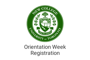 New College Orientation Week Registration